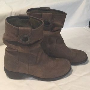 Fly nubuck leather heeled boots size 39